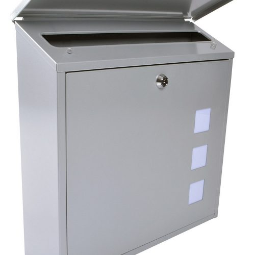 Burg-Wächter Aire Post Box Silver (5016567024040)