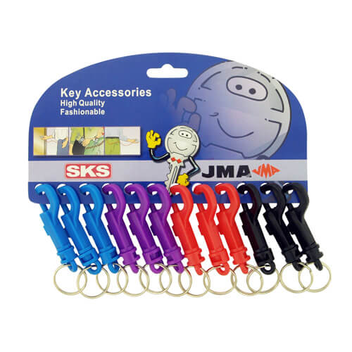 CA011 Plastic Snap Keyclip Card 12 Colours