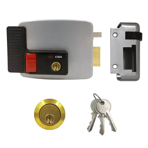 Cisa 11630 Electric Rim Lock With Hold Bac...
