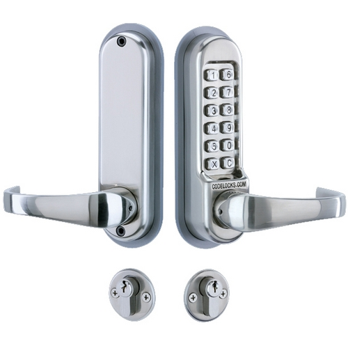 Codelocks CL525 Digital Lock, Mortice Lock with Cylinder and Anti Panic safety Function and Code Free