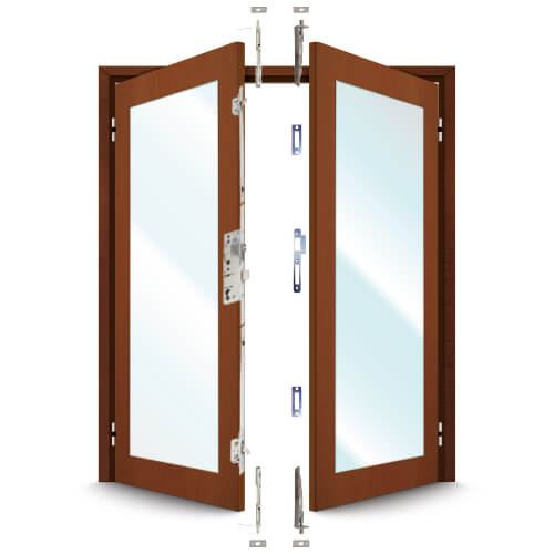 ERA 5345 French Door Kit For a pair of plain meeting style timber doors