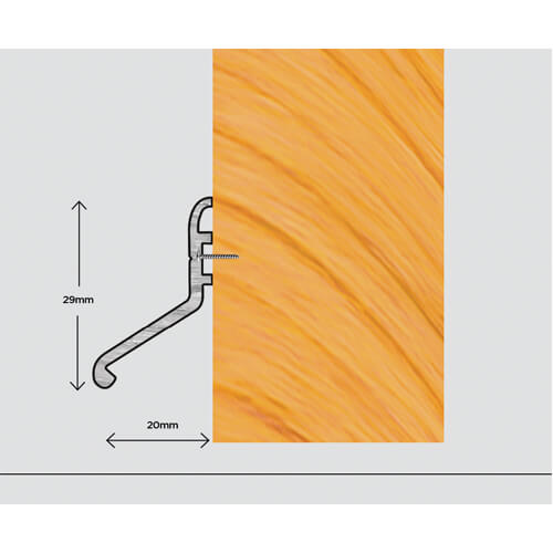 Exitex Deflector 20 – External Deflector Strip Suitable For All Door Types And Profiles