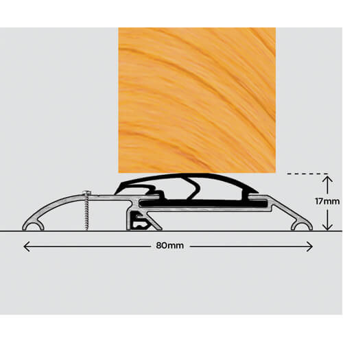 Exitex ERD Rain Deflector – Weather bar suitable for a range of inward and outward doors. Commonly used on timber doors