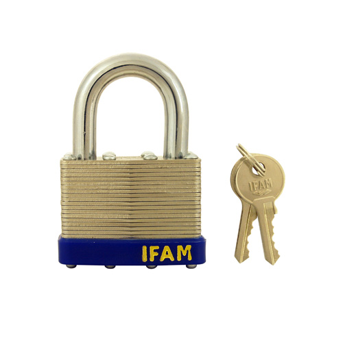 Ifam Laminated Padlock Standard Shackle Keyed Alike