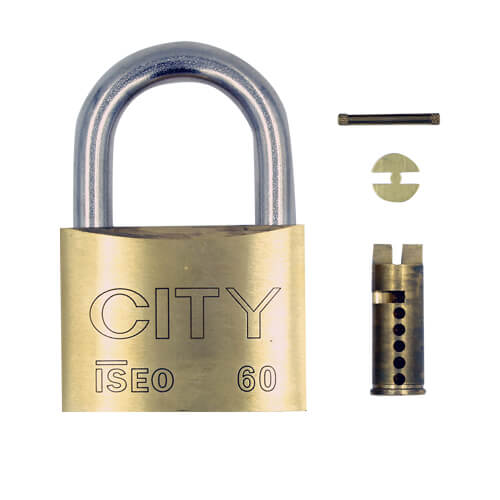 Iseo Sub Assembled 60mm Brass Padlock