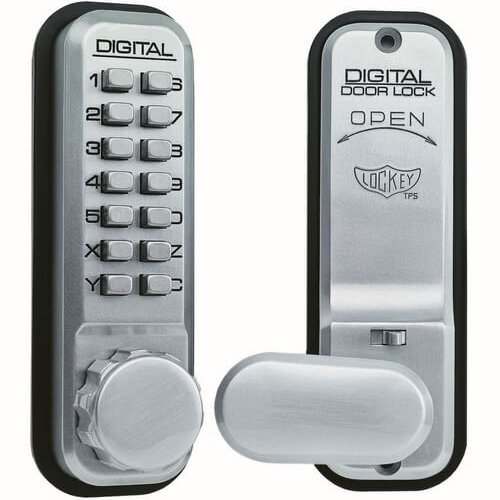Lockey 2435 Tubular Mortice Latch Digital Lock With Holdback
