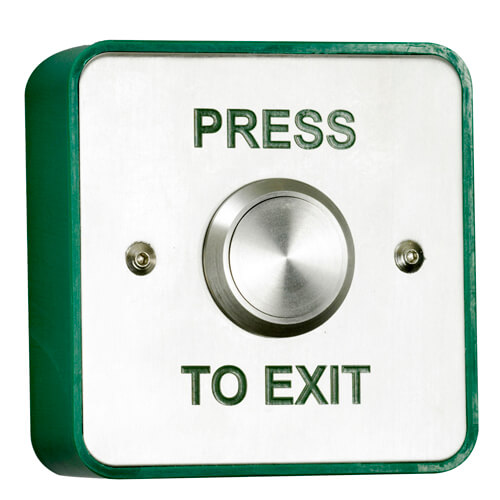 TSS Stainless Steel Standard Exit Button S...