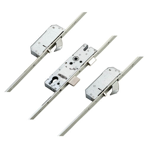 Winkhaus AV2 + Autolocking – Latch, Deadbolt and 2 Hooks Flat 16mm Faceplate, Lock only – Motor Available Separately